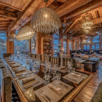Chalet Marco Polo Dining living area