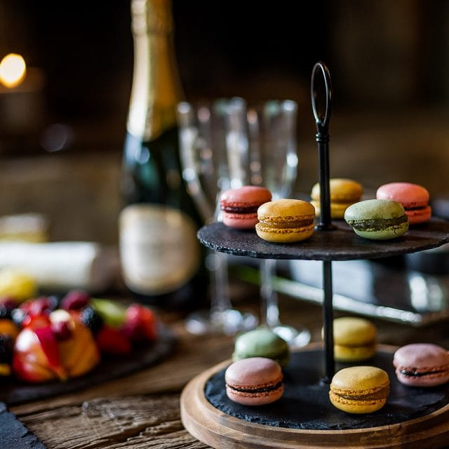 Luxury Ski Food, Chalet dining, Catered Chalet, Gourmet food, macaroon