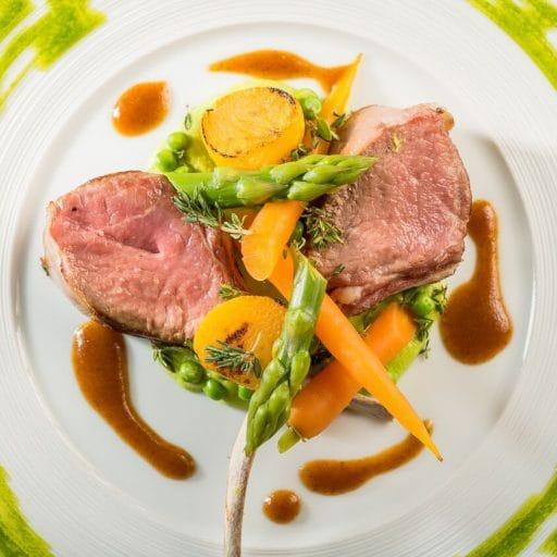 Luxury food, dining, comfort winter food, beautiful plate