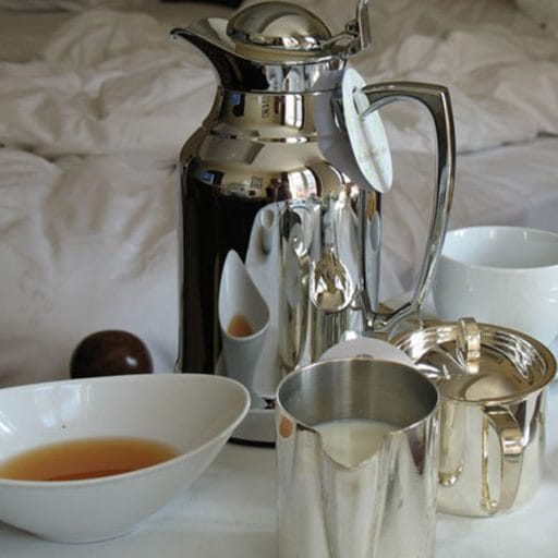Breakfast in bed, turndown service, luxury holiday
