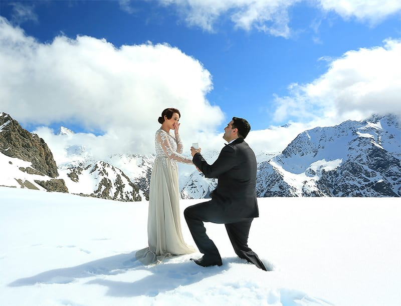 proposing in the mountains Credit: kittycarnage