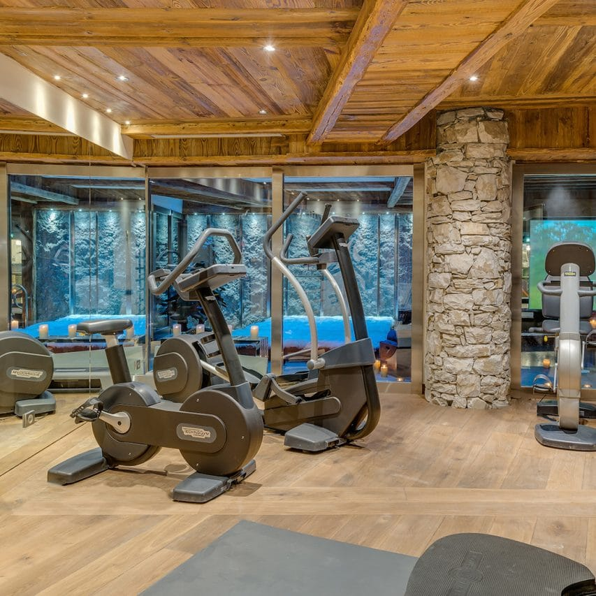 In house Gym in Marco Polo, Val d'Isere. how to stay fit on holiday