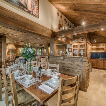 chalet chopine dining room meribel