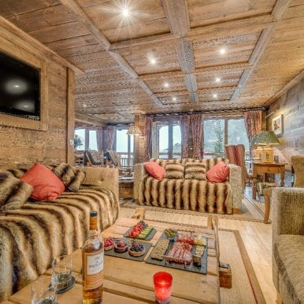 chalet chopine living room meribel