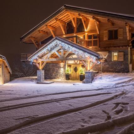 Snow Chalet, fresh tracks, snowy drive, Grand Corniche, Luxury interior design chalet