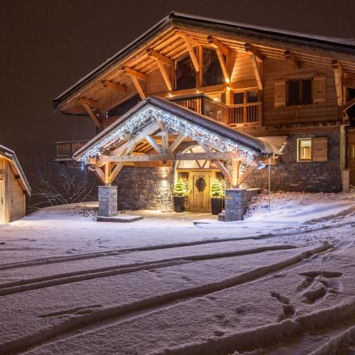 Snow Chalet, fresh tracks, snowy drive, Grand Corniche, Luxury interior design chalet