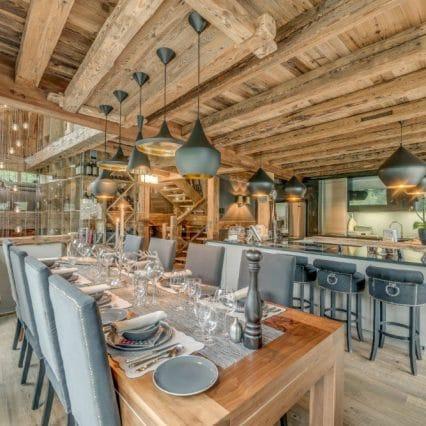 Chalet Jejalp Morzine dining room