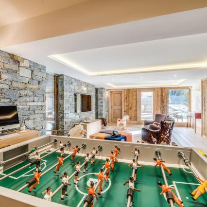 award winning, meribel, open fire, cinema, pool, spa, hottub, play room