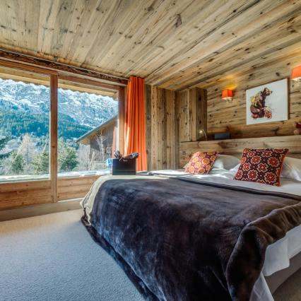 award winning, meribel, open fire, cinema, pool, spa, hottub, bedroom