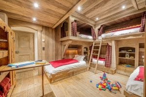 Chalet Montana, kids family ski holiday. best bedroom for kids, bunkbed ideas