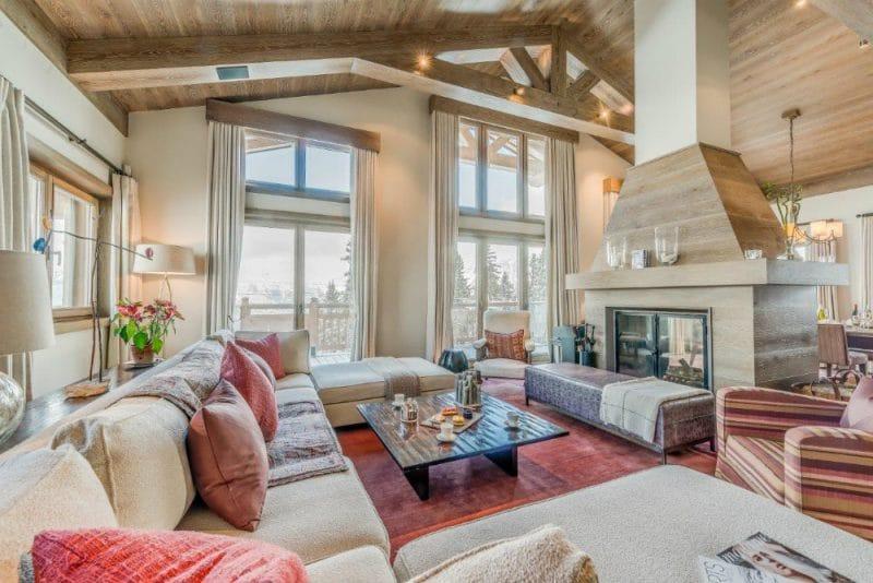 chalet shemshak living room