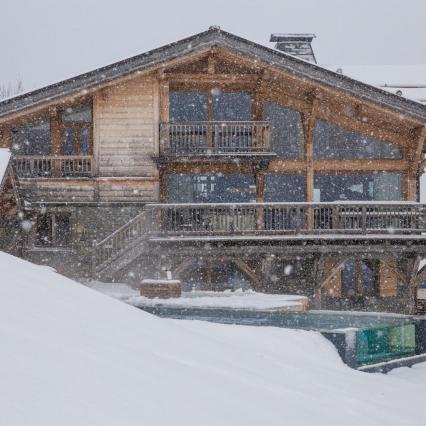Les Gets, Glass Sauna, Wine Cellar, Snowy picture