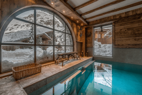 Le Rocher: Chalet with Swimming Pool, Val d'Isère