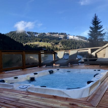 chalet Jejalp outdoor hot tub
