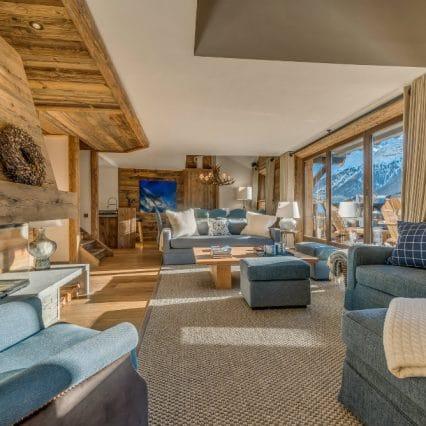 Etoile Filante val disere living room