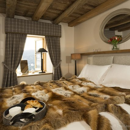 Breakfast in bed, faux fur throw, fresh pastries, turn down service