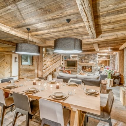 Apartment Les Sorbiers Val disere dining room