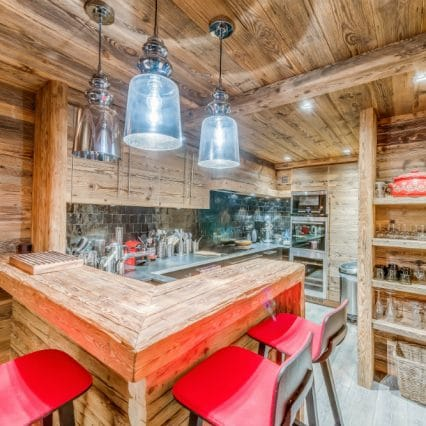 Apartment Les Sorbiers Val disere kitchen