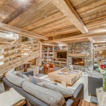 Apartment Les Sorbiers Val disere living room