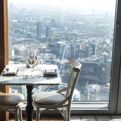 Duck & waffle lunch, view from the restaurant, view from duck & waffle
