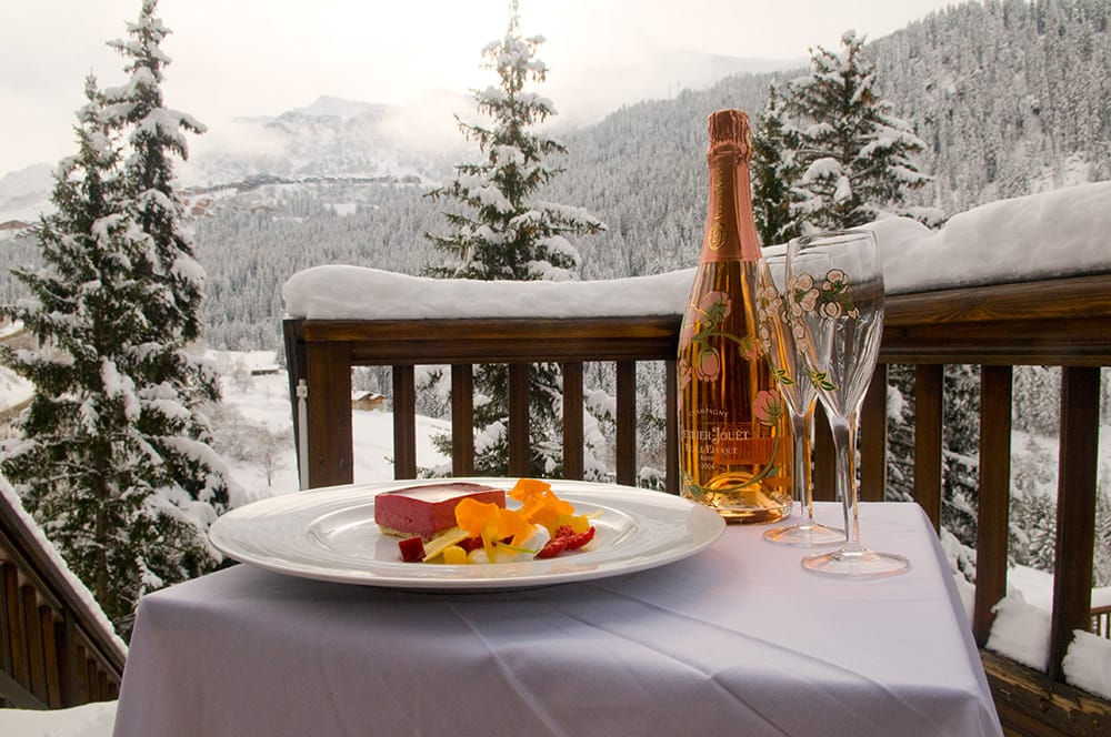 belle epoque, rose champagne, what to eat in the alps