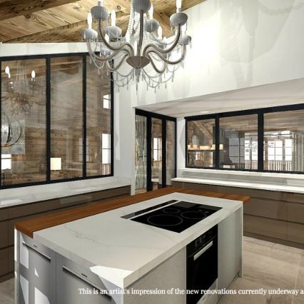 Artists Impression Chalet Namaste Kitchen