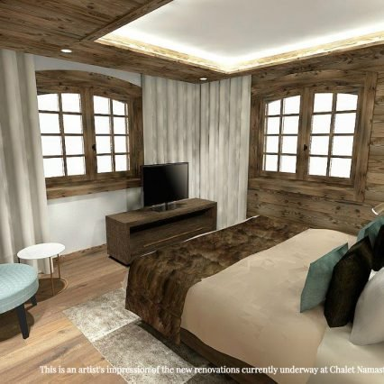 Artists impression - Chalet Namaste - bedroom