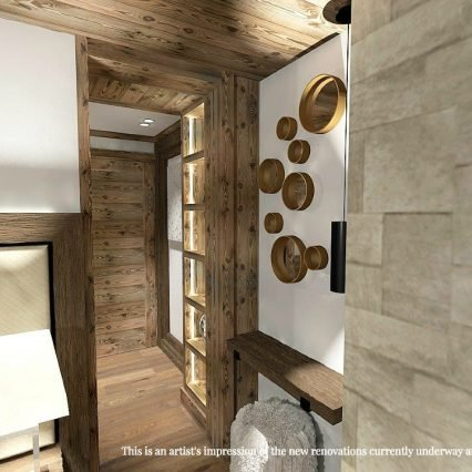 Artists impression - Chalet Namaste - bedroom entrance