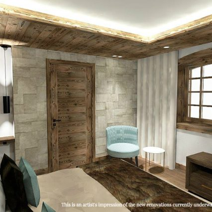 Artists impression - Chalet Namaste - bedroom 4