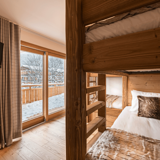 Aviemore: Alpine Apartment in Les Gets, Kids Bunks room