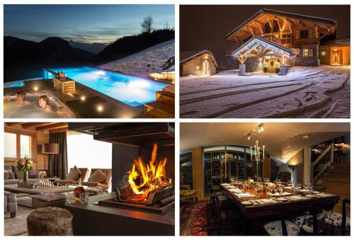 Grande Corniche Les Gets, Best Ski Chalet France, Swimming pool, fire, dining room, French Alps