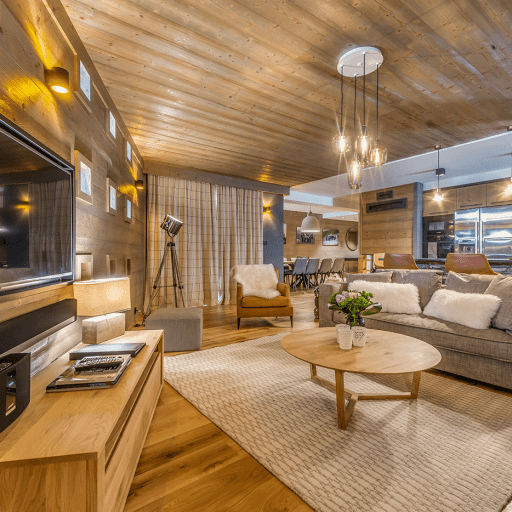 Lounge Area, Tournesol, Self Catered Luxury Apartment, Val d'Iseère