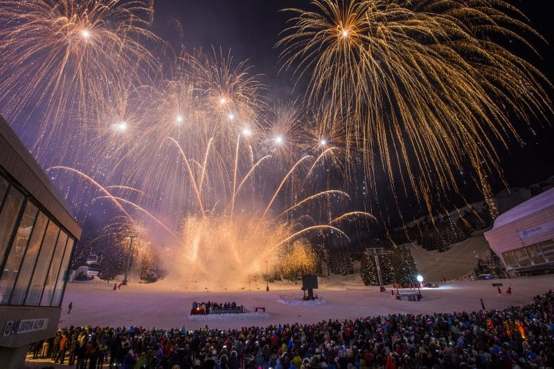 firework display in courchevel