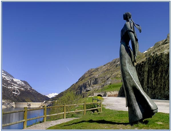 Lady of the Lake bronze scupture in tignes