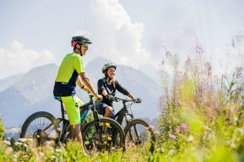 mountain biking in french alps