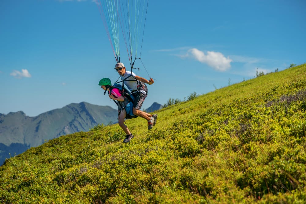 paragliding in french alps