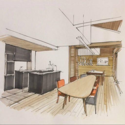 Ben Nevis Dining Room Drawing