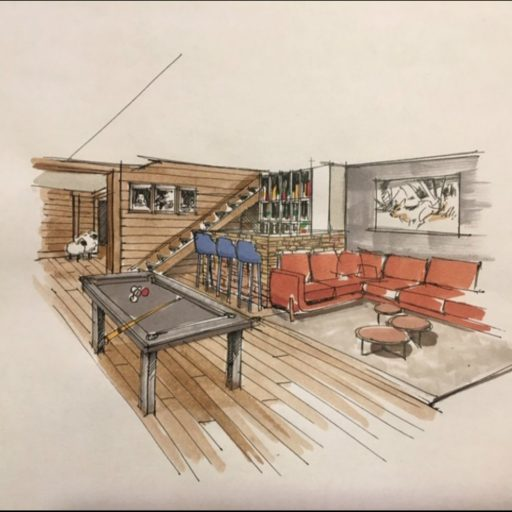 Ben Nevis Pool Table Drawing