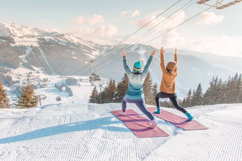 yoga ski holiday