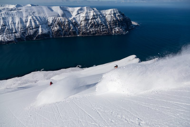 Best Off piste skiing in Iceland ©Brice Lequertier