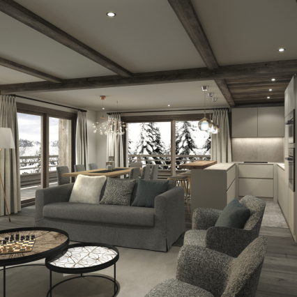 Self-Catered Apartment Jossane - Méribel - Consensio - Living Room