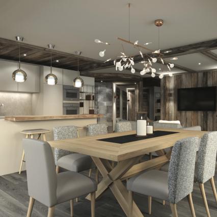 Self-Catered Apartment Jossane - Méribel - Consensio - Dining Room