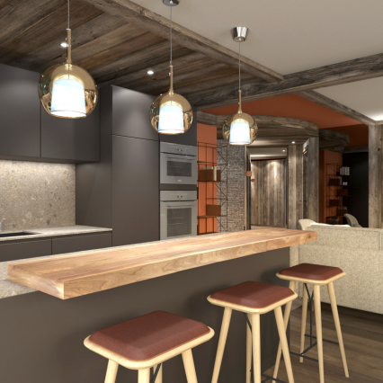 Self-Catered Apartment Jossane - Méribel - Consensio - Bar