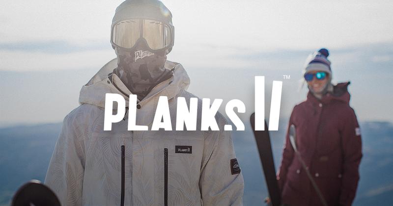planks ski wear promo image